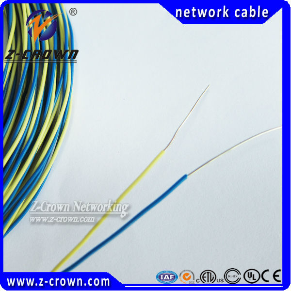 Telephone Twisted Jumper Wire 2 Cores 0.5mm PVC Jacket Blue/Yellow Red/White Bare Copper/ Tinned Copper Telecom Standard