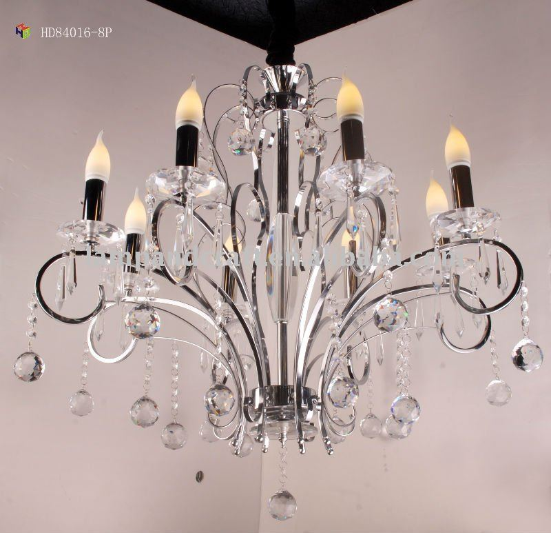 Chandelier crystal drop pendant lamp golden