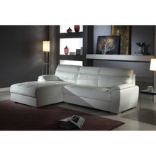 WK-2015 popular design white leather sofa