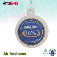 Professional Carft funny make hanging paper car air freshener