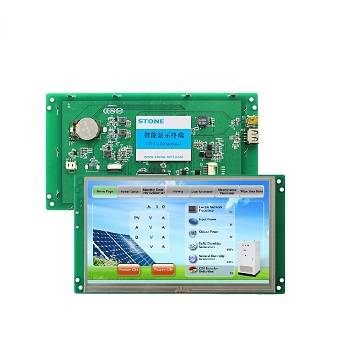 Embedded/ Open Frame Intelligent UART Touch Screen 7 inch 1024x600 TFT LCD Module