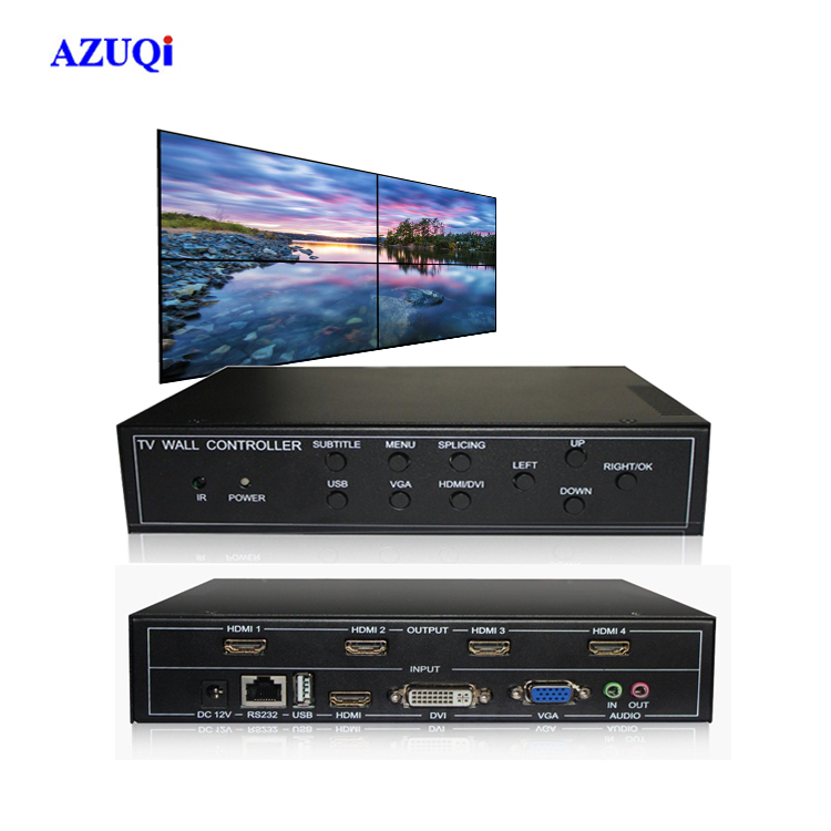 Plug and Play 2x2 HDMI Television Video Wall Controller Mini System Special Feature and Player Type HDMI Splitter