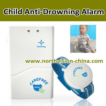 Wristband transmitter anti drowning alarm for child with anti lost alarming buy anti drowning for Child alarm for swimming pools