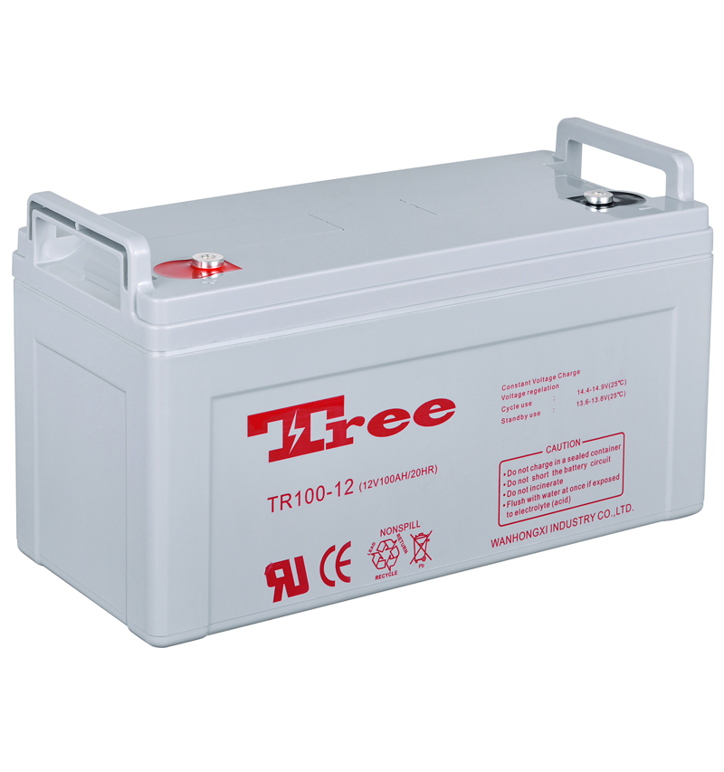 Long life discharge 12V 100AH deep cycle gel battery top quality