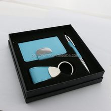 pen and keychain gift set with Business card