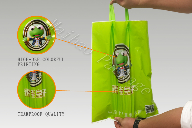 Recyclable Organic cassava clothing gift biodegradable plastic bags raw material i am not plastic bag