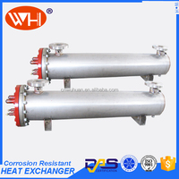 Shell and tube marine cooler heat exchanger