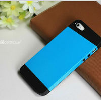 Good handy rubberized case for iphone5 double color hard case China cell phone case