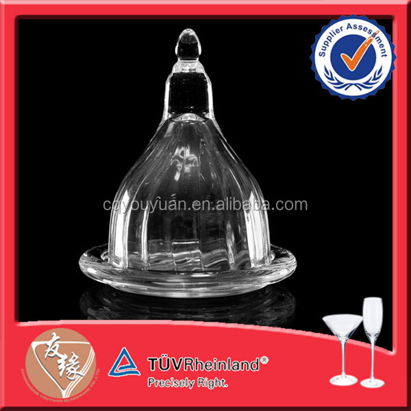 Multifunctional Mini Recycled Decorative Clear Glass Plates/glass Dish Sets