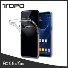 MOQ 50 ultra thin transparent drop proof soft TPU mobile phone case cover For Samsung Galaxy s5 s6 s7 s8 edge plus