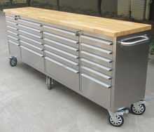 hot Stainless Steel toolbox with wheels and drawers