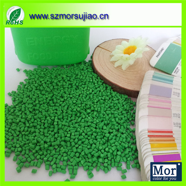 food grade green master batch for juice bottle