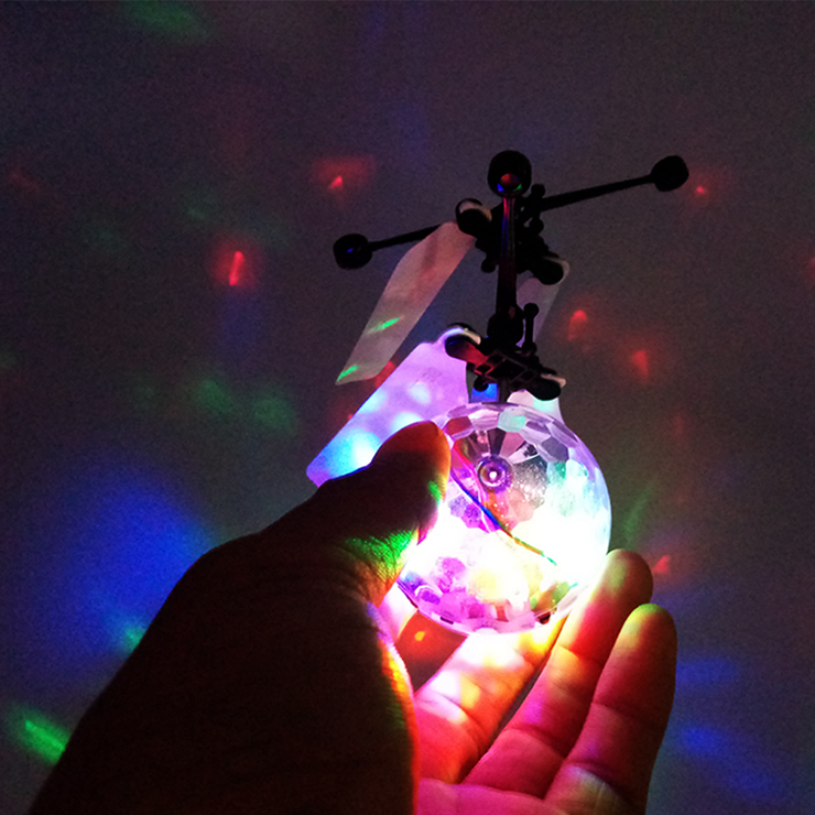 Christmas Hallowmas Children Gifts RC UFO Flying Ball Toy Magic Led Hanging Crystal Ball