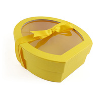 competitive price various printed discount chocolate yellow paper box with window