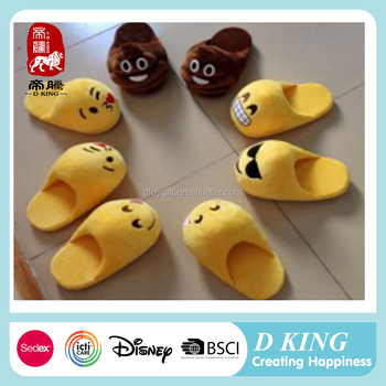 cheap new design emoji slipper/customized all faces