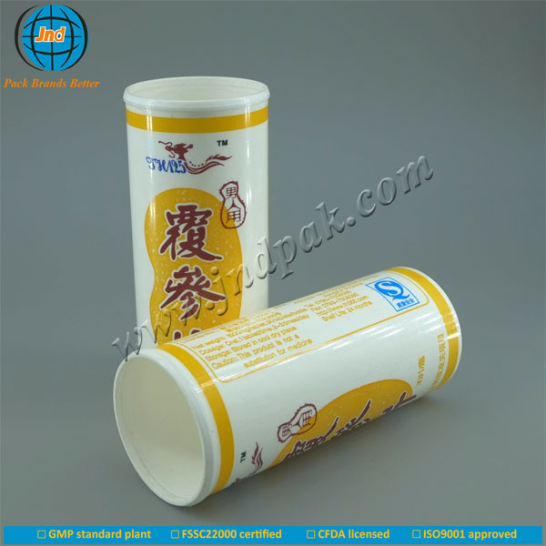 Food grade PP OEM/ODM effervescent energy drink tablet bottles with spring caps and dessicant with FSSC22000 certified