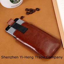 $0.9-$1.1/pc 2014 Newest Soft Leather PU Sleeve Bag Pull Tab Pouch Case Cover for Iphone5 5S