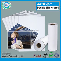 leading manufacturer waterproof semi cast coated photo paper double sided high glossy inkjet photo paper A4 size 130g for print