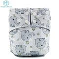 PUL One size fit all double gusset bamboo charcoal baby cloth diaper