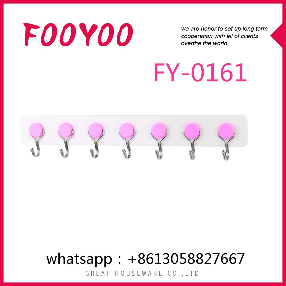 FOOYOO FY-0161 HANGER FOR CLOTHES PLASTIC PRODUCT VERY STRONG ADHESIVE HOOKS