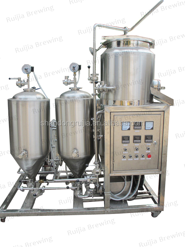 100l micro automated control commercial beer brewing systems