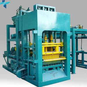 Double Z Pavers Interlocking Concrete Blocks Machinery QT4-25 Interlocking Cement Blocks /Bricks Forming Machine