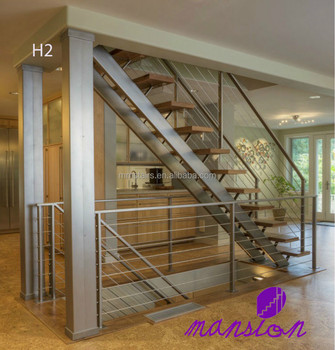 Double Stringer Stainless Steel Prefabricated Stairs