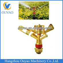 "China Factory Direct Low MOQ G3/4"" Brass Rotating Water Garden Lawn Irrigation Farm Sprinkler Head"