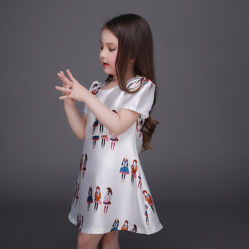 2017 baby dress european style bulk wholesale wonder kids clothing