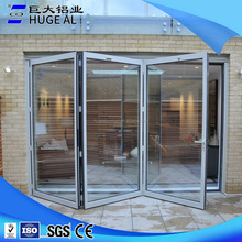 Interior bifold door glass folding door tempered glass sliding door for living room