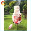 High quality popular outdoor clay bbq, wood fired pizza oven