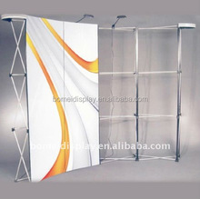3*3 3*4 curved or straight display rack metal pop up stand