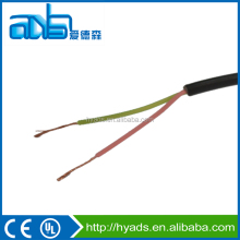 Bare copper flat/round 2 core telephone cable 0.5mm
