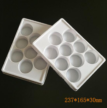 Custom Made Food Grade White Thermoformed Blister Plastic Chocolate Trays