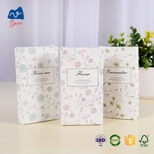 Luxury small cosmetic packaging boxes empty paper perfume cardboard box