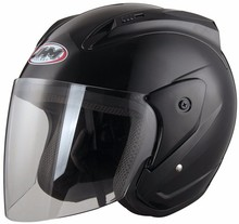 Cheap open face motorcycle helmets scooter matt black
