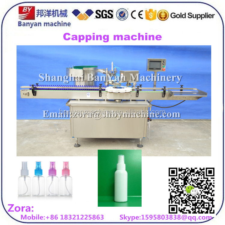 Automatic oral liquid glass bottle capping machine for vials with rubber stopper and aluminum cap