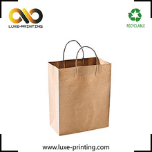Tough nature kraft brown color newest design paper bag
