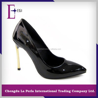 B892-5946 BLACK oem service new design exotic high heel spain shoes