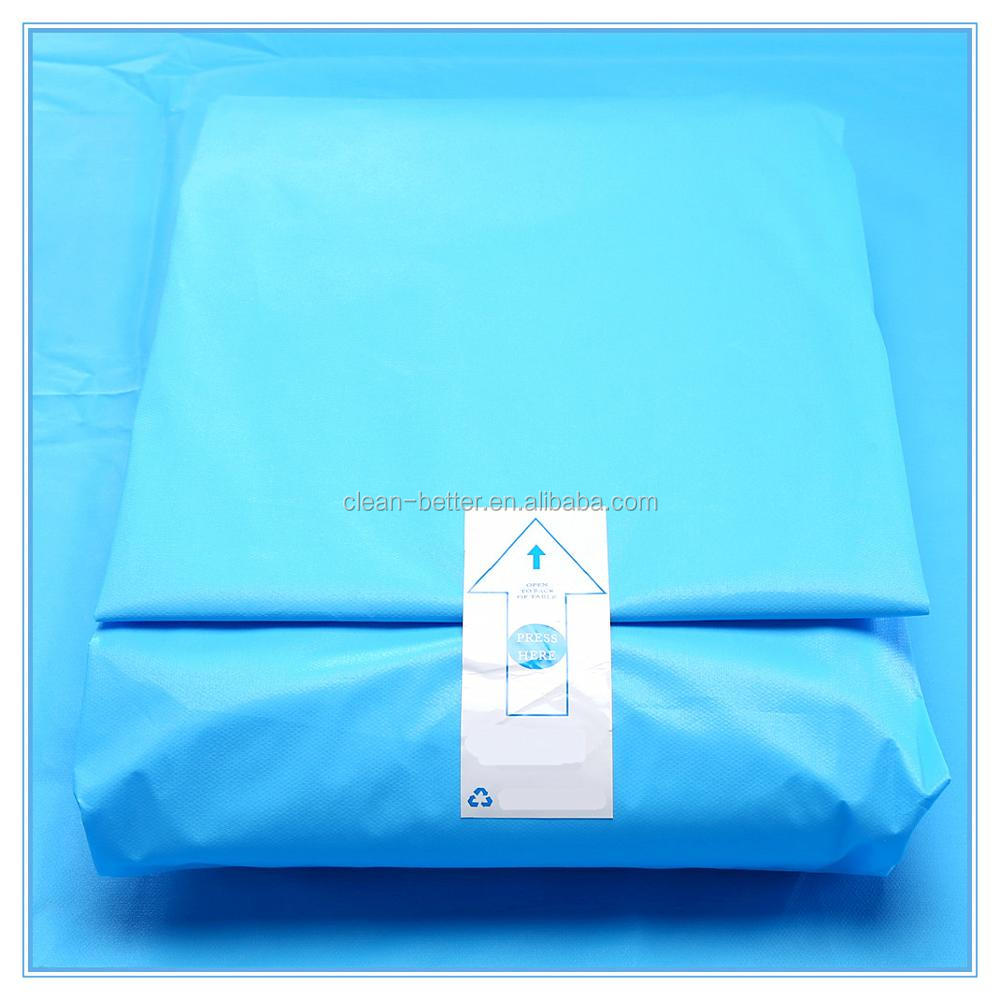 Cesarean incise sterile disposable surgical drape pack with baby blanket