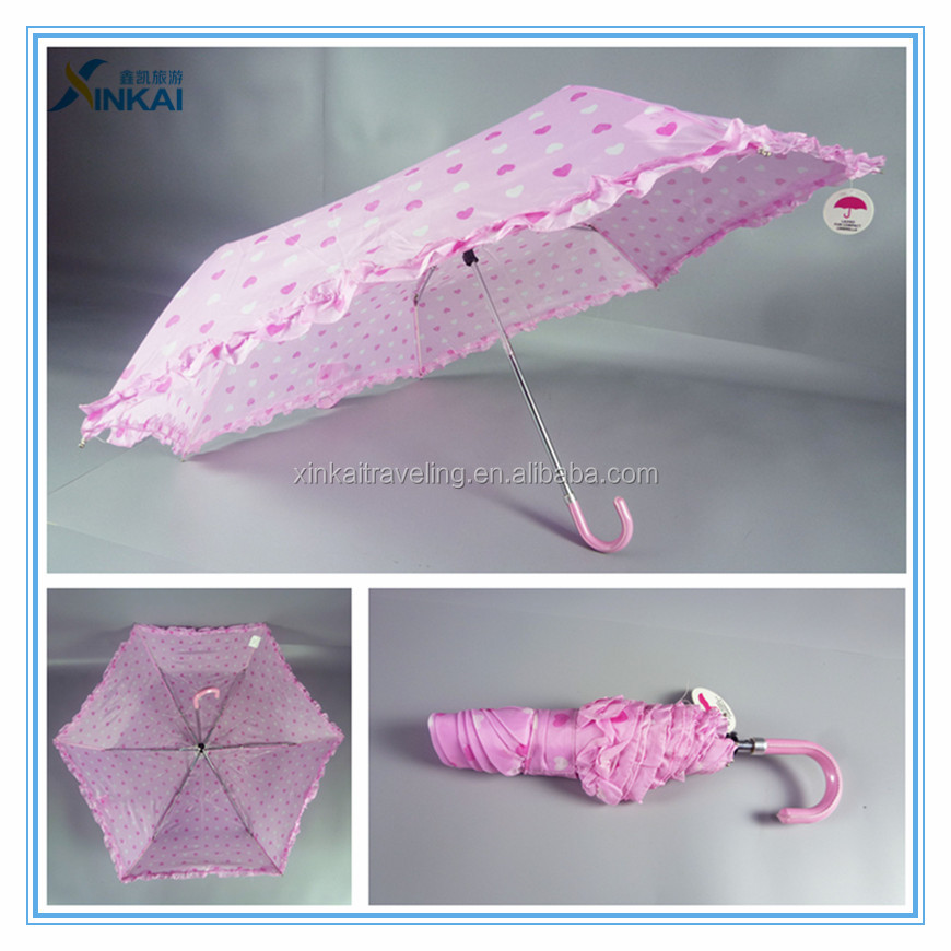 Wholesale pink fold up umbrellas for girls
