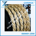 12 strand rope pp, white ship rope , polypropylene polyester mixed rope for sale
