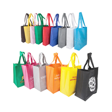 Wholesale Custom Promotional Reusable and Foldable Laminated Tote Recyclable PP Non Woven Shopping Bags