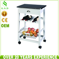 wholesale high quality wooden bar trolley design