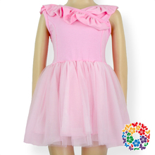Baby Girls Pink Tulle Backless Dress Wedding Party Pageant Birthday Ruffle Indian Cotton Dresses