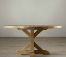 Round Dinning table/Salvaged wood round table/Antique furniture style