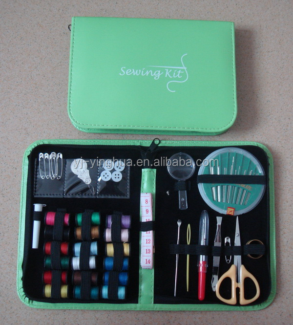 High quality Portable travel Leather Tools sewing kit