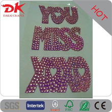 high shining removable rhinestone stickers/rhinestone alphabet stickers/jewel phone seal