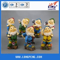 Custom Lovely Gnome Figurines ,Resin Garden Dwarf Statues