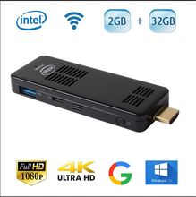 Windows10 Mini PC Compute Stick with Intel Atom Z8350 Quad Core Computer Stick with Built-in Wifi Bluetooth 2GB Ram 32GB Rom